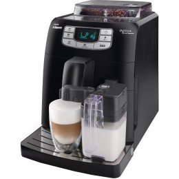 Espressor automat Philips Saeco Intelia HD875319, Dispozitiv spumare, Functie Cappuccino, Rasnita ceramica, Autocuratare, 15 Bar, 1.5 l, Negru