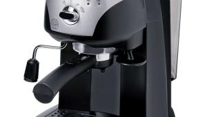 Espressor manual DeLonghi EC 220.CD, Dispozitiv spumare, Sistem cappuccino, 15 Bar, 1 l, Negru