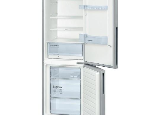 Combina frigorifica Bosch KGV36UL30, Low Frost, 309 l, Clasa A++, H 186 cm, Argintiu