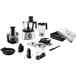 Robot de bucatarie Philips Avance Collection HR7778/00, 1300 W, Bol 2.4 l, Blender 1.5 l, Storcator de fructe si legume, 12 Viteze + Pulse, Inox