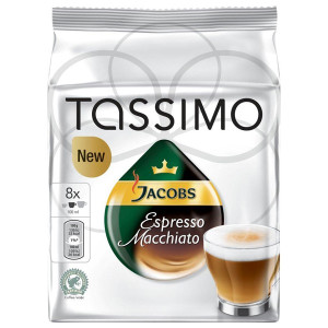 Capsule Jacobs Tassimo Espresso Macchiato, 2 x 8 Capsule, 236 g