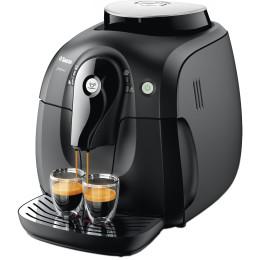 Espressor automat Philips Saeco Xsmall HD864309, Rasnita ceramica, Autocuratare, 1 l, Negru