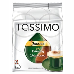 Capsule Jacobs Tassimo Cappuccino, 2 x 8 Capsule, 260 g