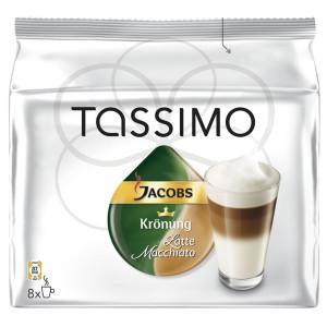 Capsule Jacobs Tassimo Latte Macchiato, 2 x 8 Capsule, 475.2 g