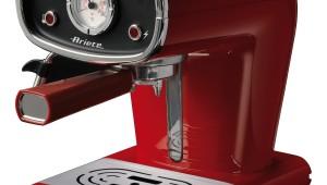 Espressor Retro Ariete 1388, 900 W, 15 bar, 0.9 l, Dispozitiv pentru cappuccino, Rosu
