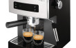 Espressor manual Philips Saeco Estrosa HD8525/09, Dispozitiv spumare, 15 Bar, Negru/Argintiu