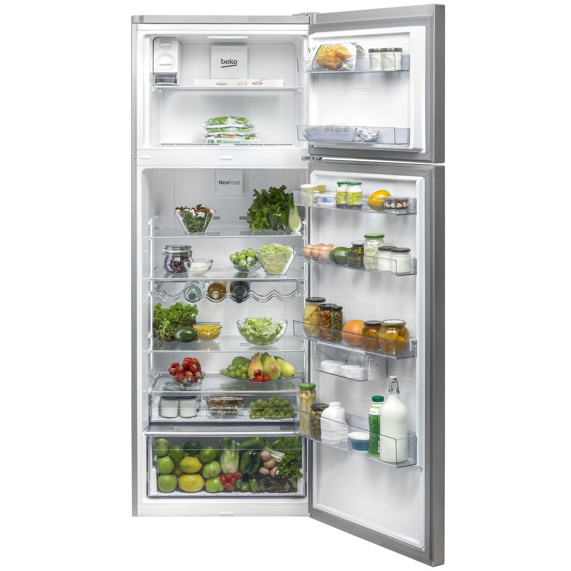 Beko RDNE535E20ZX review, pret, pareri, opinii, frigider, compartimentare