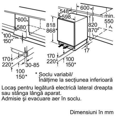 Bosch KUL15A65 schema montare