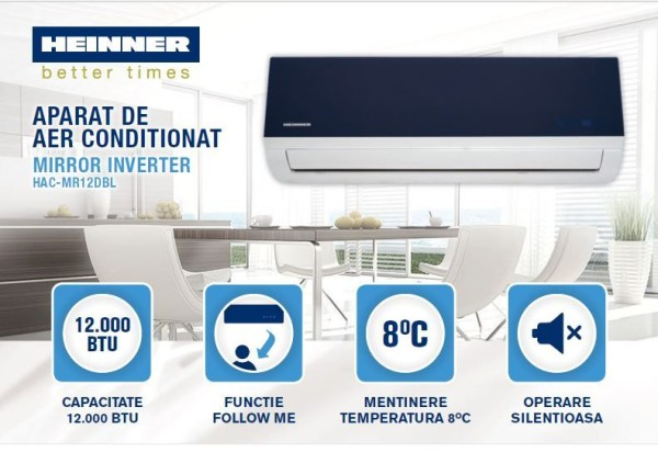 HEINNER Mirror HAC-MR12DBL aparat de aer conditionat modern