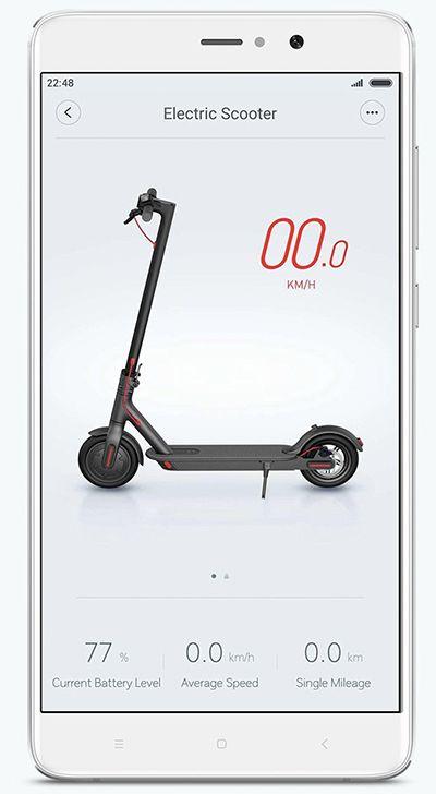 Trotineta electrica Xiaomi Mijia aplicatie smartphone